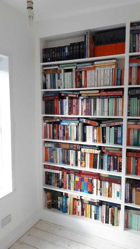 Image 3 - painted whole room and the newly built bookcase.