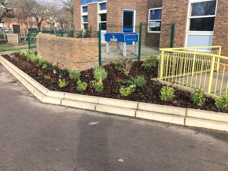 Image 19 - We also offer a planting service. This particular job is at a school we currently have a contract with.