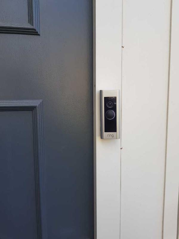 Image 9 - Surbiton - Ring door bell camera installed via mains supply.