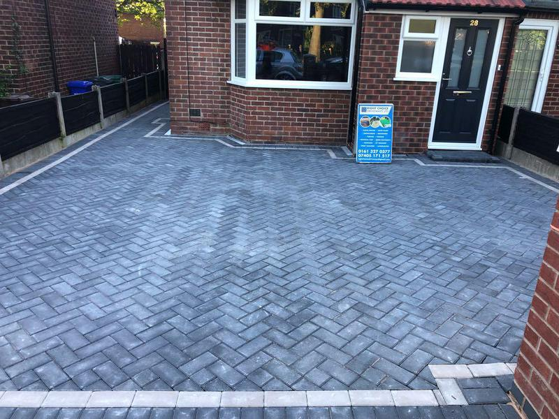 Image 7 - Charcoal Mono Paving with Light grey border