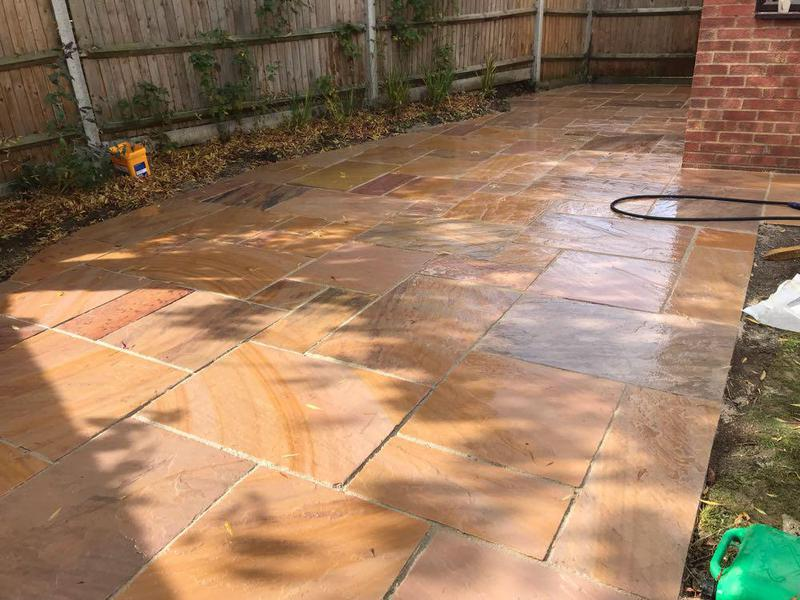 Image 87 - Indian sandstone patio in Bishops Stortford.