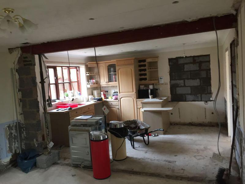 Image 11 - kitchen dining room knock through. steels in place and passed by building control