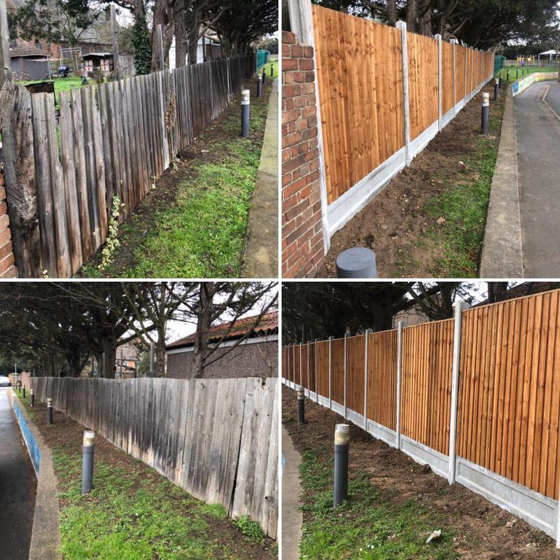 Image 23 - Fencing - Before & After.