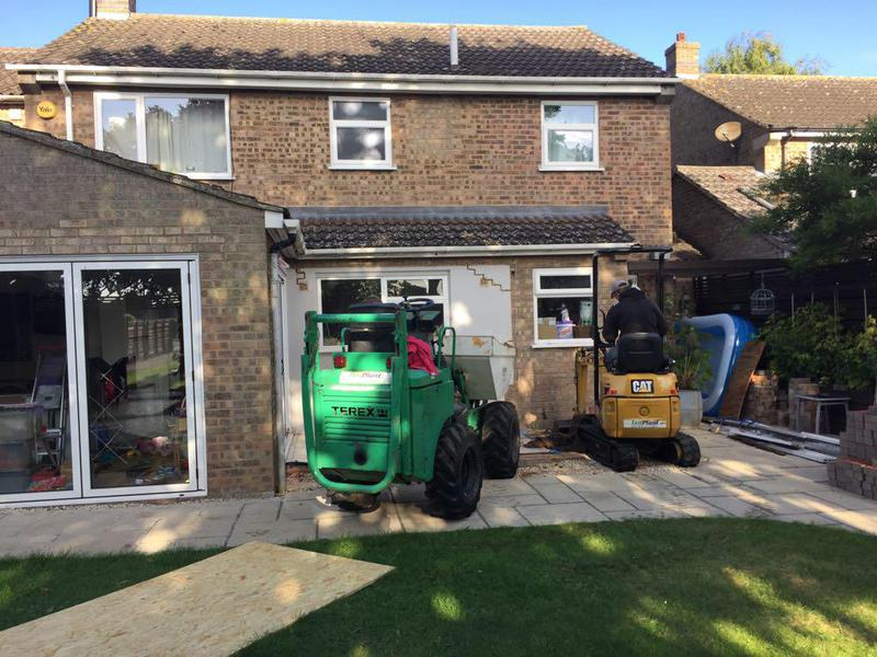 Image 40 - conservatory removed time for groundworks for new kitchen extension