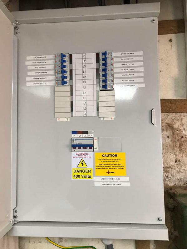 Image 2 - New 3 phase Distribution board .