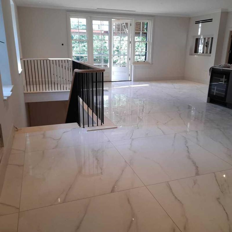 Image 23 - large format porcelain kitchen/living room floor