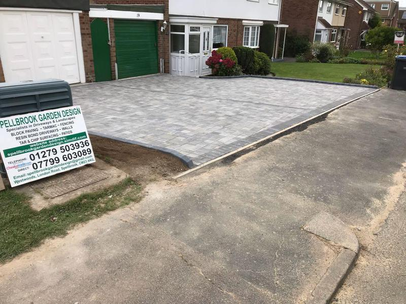 Image 79 - Block paving with KL key curbs in Harlow.