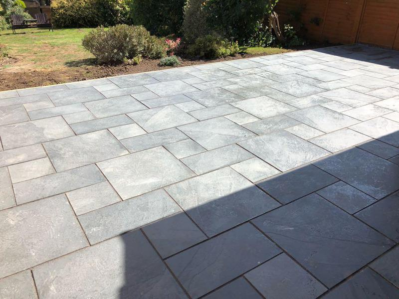 Image 9 - NEW PATIO IN HEMEL HEMPSTEAD MARSHALLS CASATA SLATE