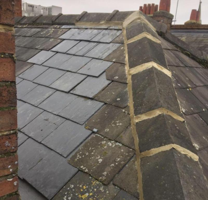 Image 5 - Re-Pointing Of Ridge Tiles And New Slates- One Very Happy Customer!