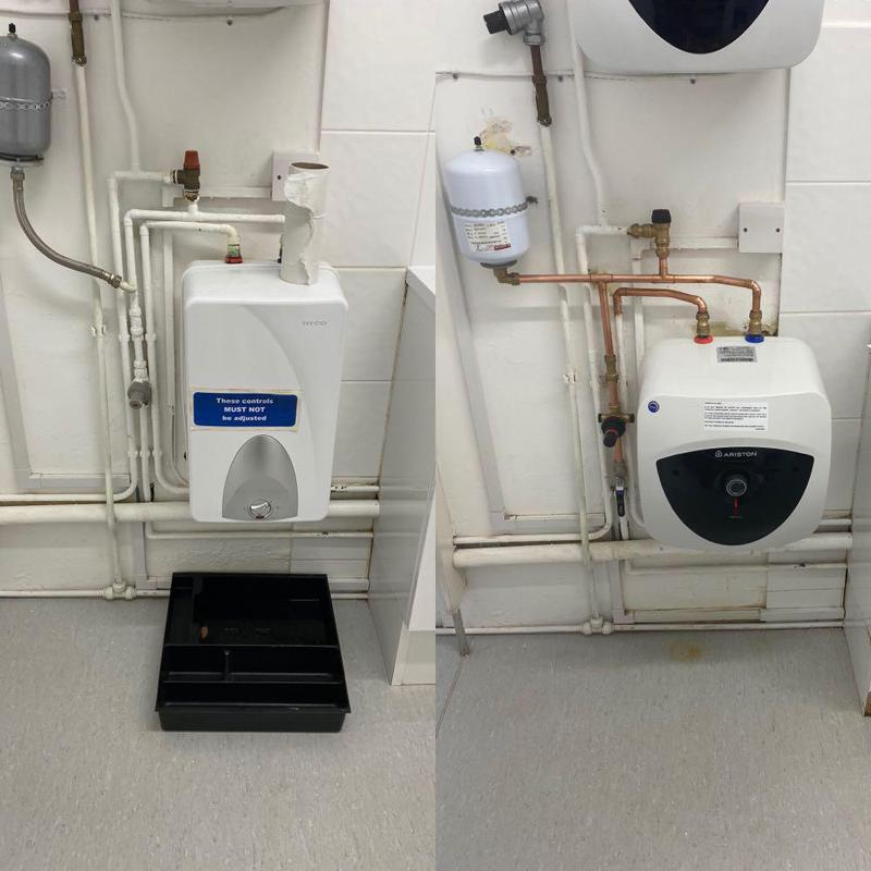 Image 19 - Replaced a faulty water heater for a commercial unit called Menicon