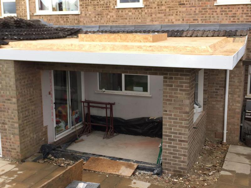 Image 38 - interesting overhang to the roof, insulated warm roof with vapour barrier ready to receive the grp fibreglass roof finish