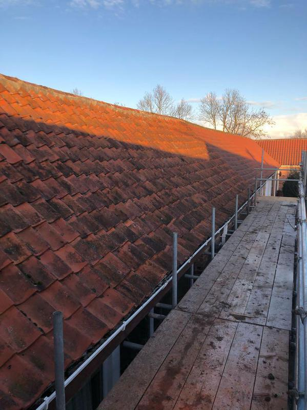 Image 5 - Another side to a recent re-roof using existing tiles on Barn conversion.