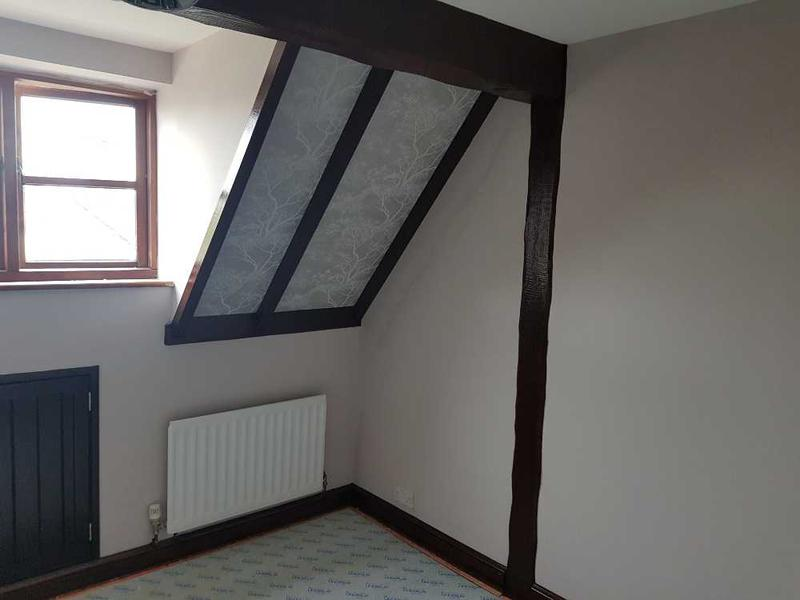 Image 18 - cottage beams , walls and ceiling completed