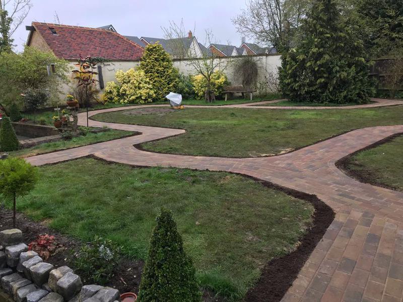 Image 91 - New block paving pathways in Elsenham.