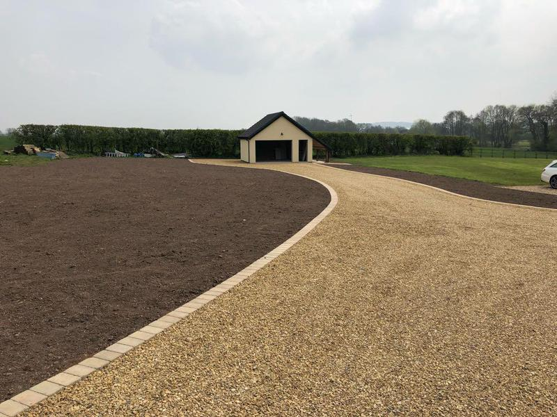 Image 19 - Whittington, driveway completed