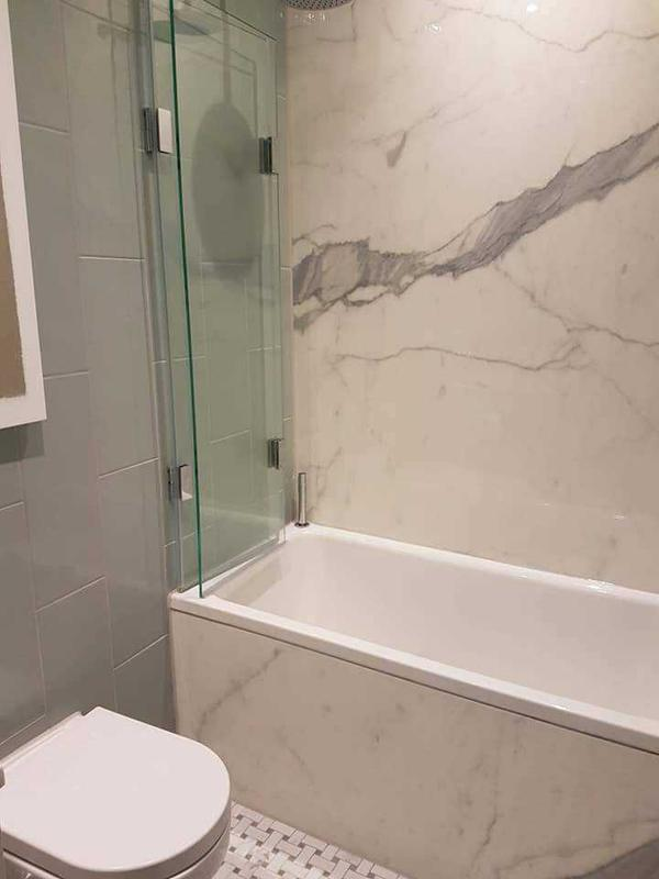 Image 8 - marble bath piece with ceramic side design