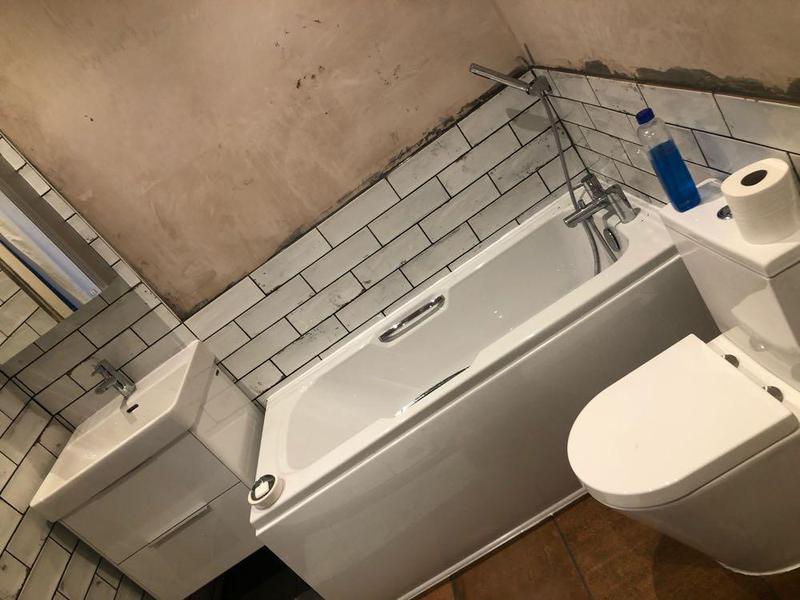 Image 8 - New bathroom installation floor & wall tiling