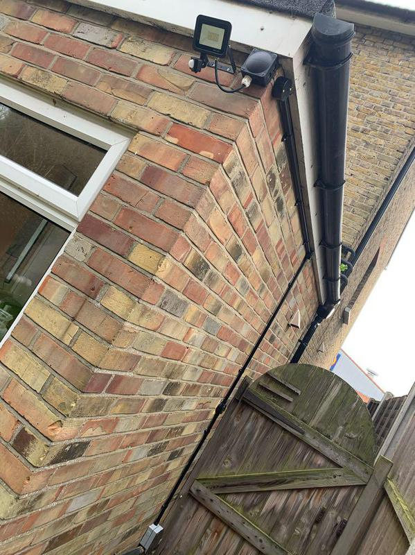 Image 22 - Outside Conduit and Light fitted 👌🏼
