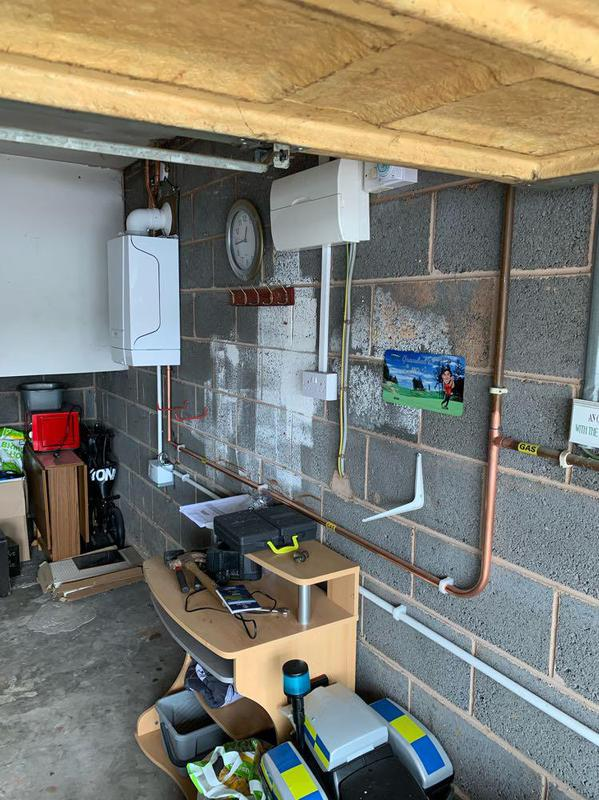 Image 2 - new gas pipe upgrade to new Baxi 418 Heat