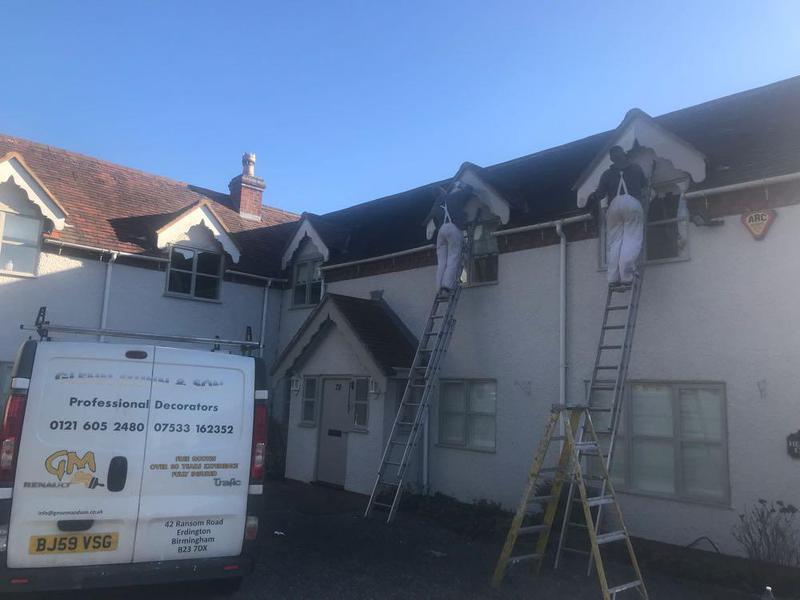 Image 42 - External painting to this beautiful cottage in bromsgrove using period colours