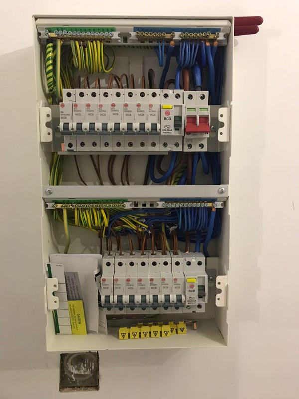Image 43 - Two-Tier Wylex fuseboard install at one of our re-wires.
