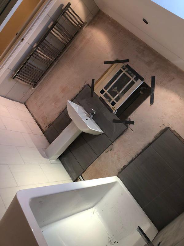 Image 11 - New bathroom installation floor & wall tiling
