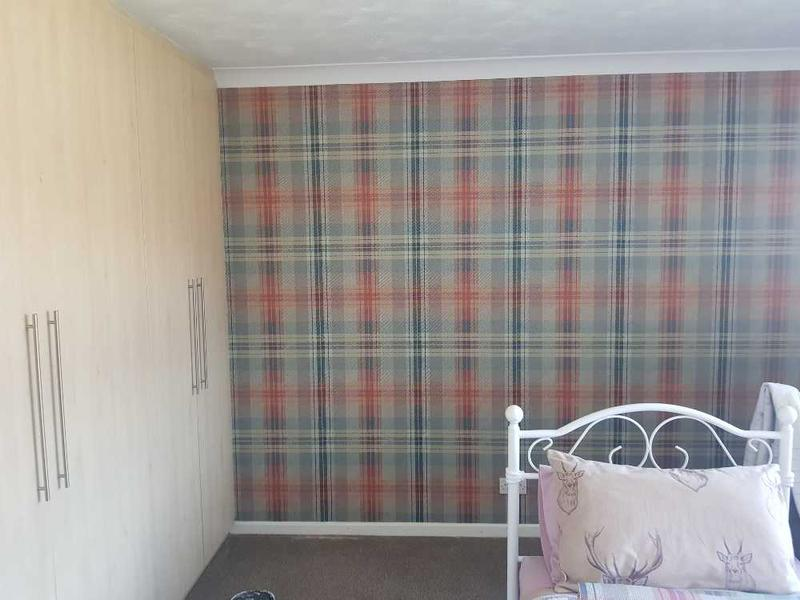 Image 3 - Hung wallpaper which was straight and levelled