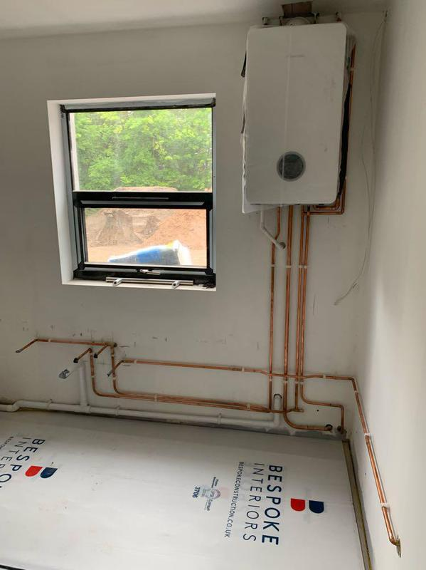 Image 20 - New build installation-new pipework in kitchen and Worcester Bosch 8000Lite