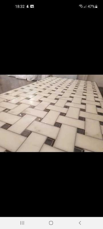 Image 12 - tri piece marble mosaic display piece