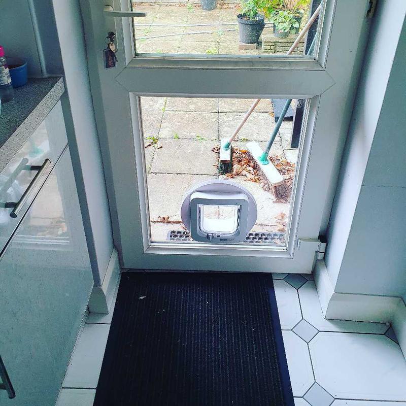 Image 9 - Cat flap installed into double glazed door.