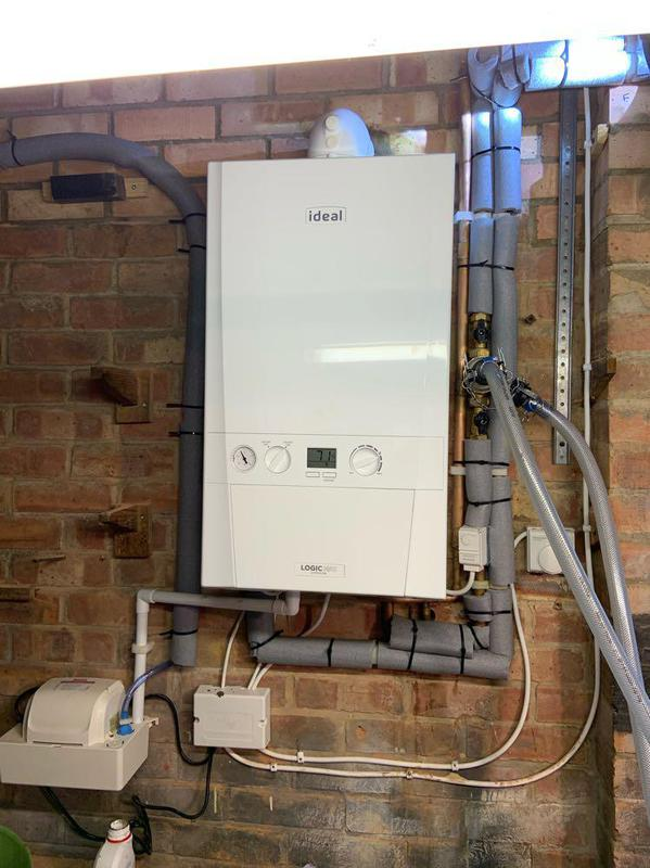 Image 21 - A chemical clean in progress on this boiler install