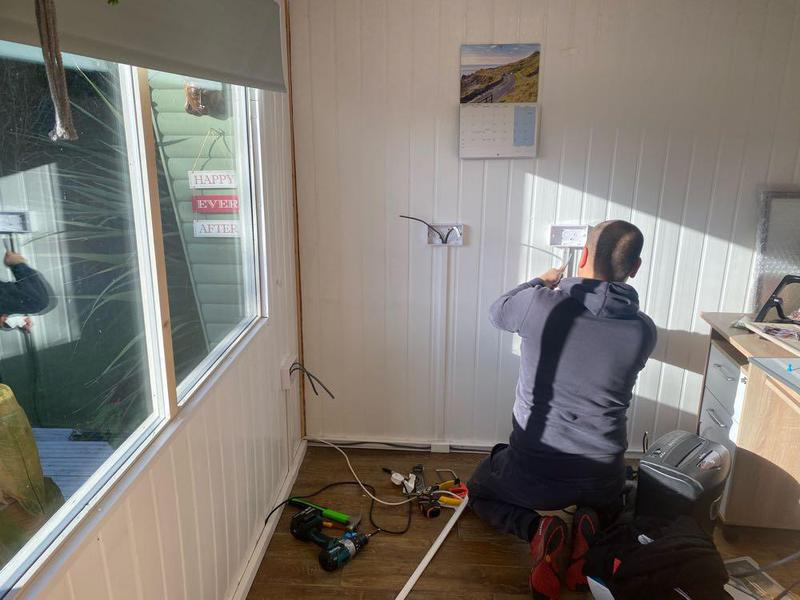 Image 21 - office sockets being installed
