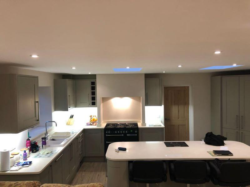 Image 60 - large new kitchen installation in customers extension. finished in white quartz