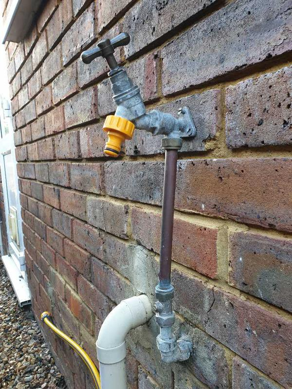 Image 12 - Outside tap burst and leaking, Chertsey #1.