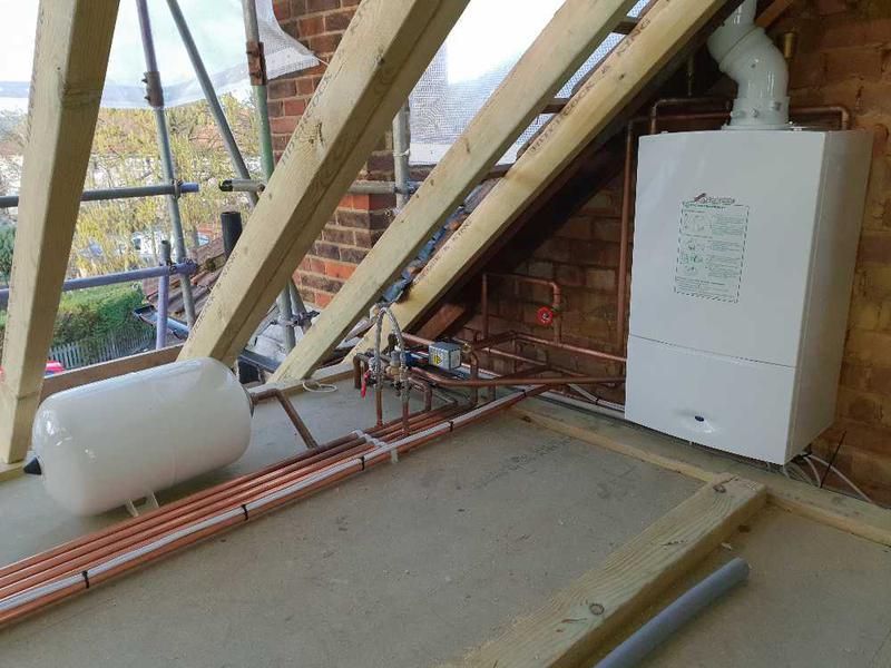 Image 7 - Boiler and horizontal unvented cylinder installation, Twickenham #1.