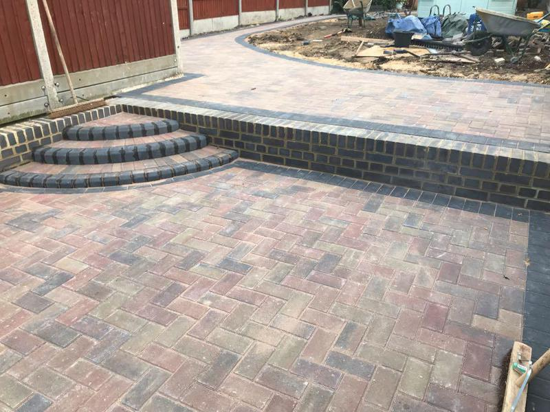 Image 56 - New block paving patio and walls in Harlow.