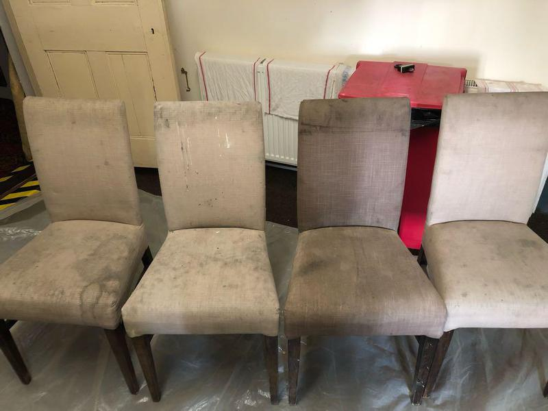 Image 13 - Before images of Dining chairs in a local restaurant.