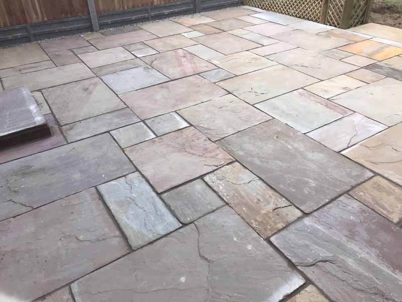 Image 88 - Indian sandstone patio in Bishops Stortford.