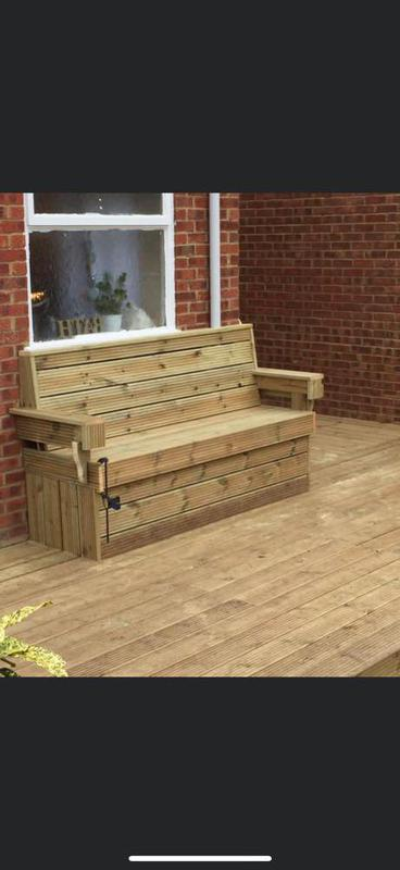 Image 29 - A bespoke bench we built for ya customer. With lovely softwood decking.