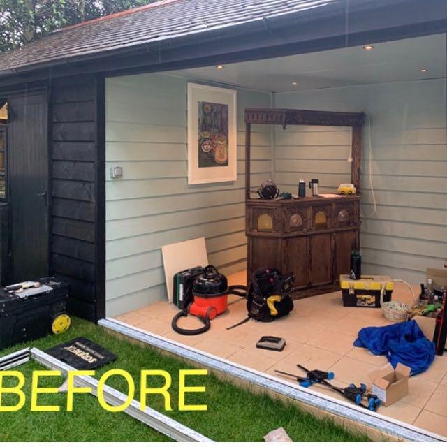 Image 2 - Our customer wanted to add a bifold door to their garden room