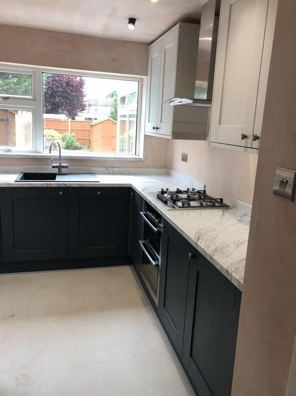 Image 51 - new kitchen refurb, new elecs and plumbing, replastering and units and worktop installed