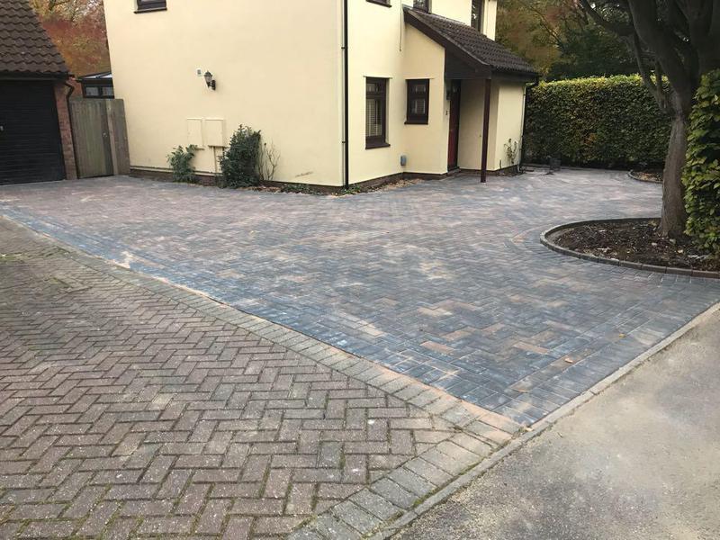 Image 85 - Block paving driveway in Bishops Stortford.