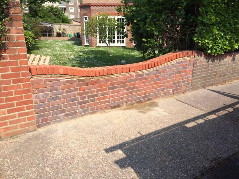 Image 51 - Bricking up a driveway opening West Worthing