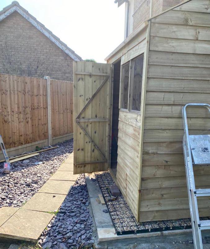 Image 47 - Errected shed