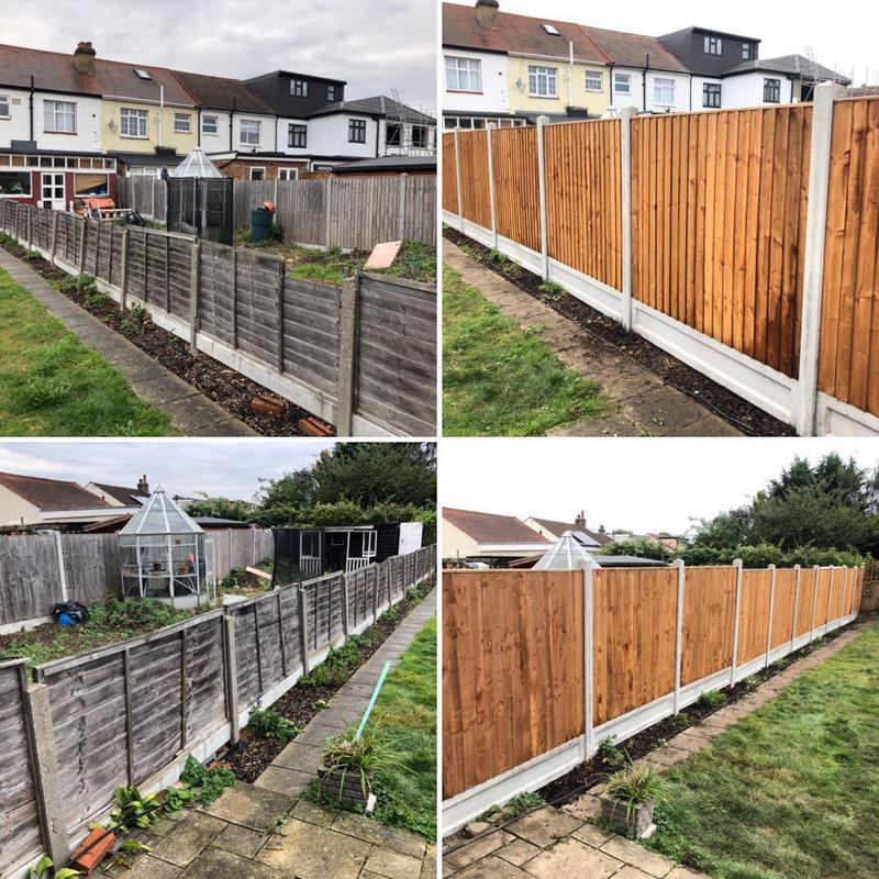 Image 33 - Fencing, before & after.