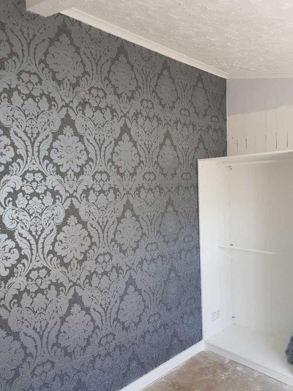 Image 50 - R H S of wall that I papered