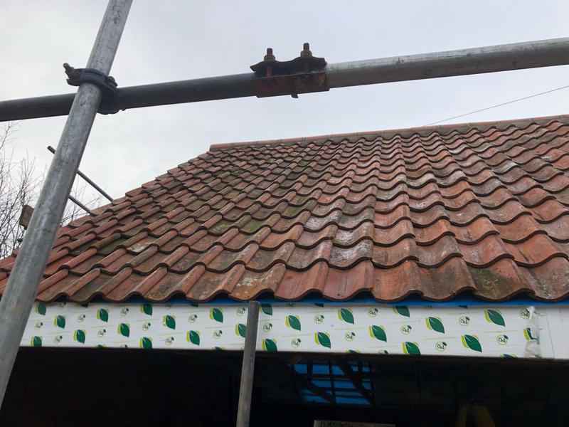 Image 6 - Recent garage re-roof in Westborough in Pan-Tiles