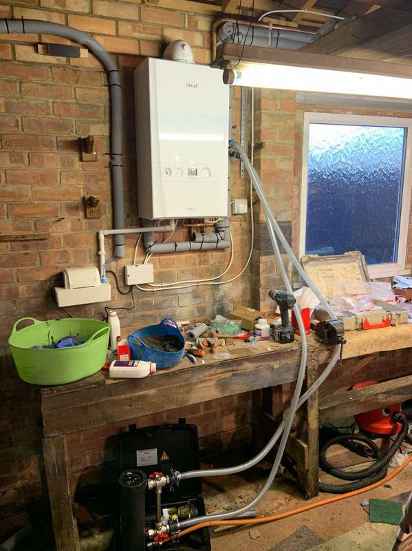 Image 20 - Boiler swap, and relocation to the garage, chemical clean, all with a 10 year manufacturers warranty