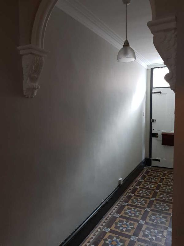 Image 115 - hallway completed, doubled lined walls and painted