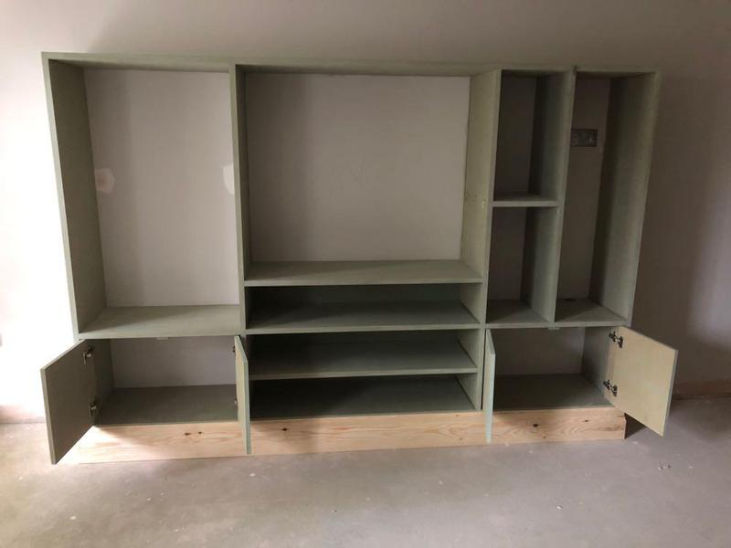 Image 8 - Bespoke TV unit ready for painting